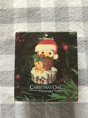 Vintage Hallmark Ornament 1980~Christmas Owl~ ORIGINAL BOX! Beautiful condition!