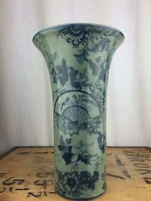 Tall Chinese Asian Vase Celadon Green Ware Finishing Touch
