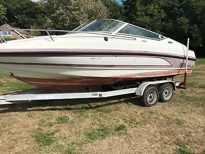 chaparral boat project,cuddy,sports boat,cabin, twin axel trailer