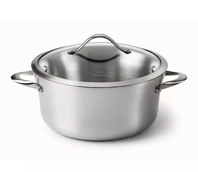 Calphalon Contemporary Stainless Steel 6.5-Quart Covered Sauce Pot NEW