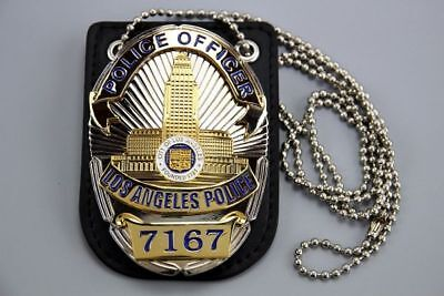 US Police Uniform Badge Police Officer # 7167 with badge holder