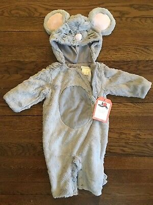 NWT Pottery Barn Kids Cozy Baby Mouse Halloween Costume 0-6 Months Cute! New