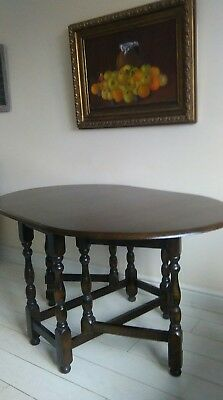 Antique  drop leaf oak gateleg oak kitchen dining table