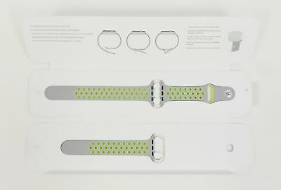 Genuine Apple Watch Nike Light Gray Volt Sport Band 42mm