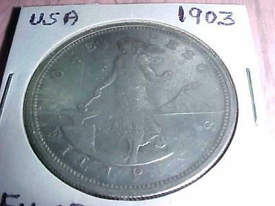 Estate Coin Collection 1903-S US Philippines One Peso Silver  FREE SHIPPING!