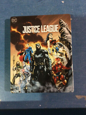 Justice League - Limited Edition Steelbook [4K+Blu-ray] AS IS!!(e)