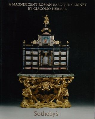 MAGNIFICENT ROMAN BAROQUE CABINET by GIACOMO HERMAN single lot AUCTION CATALOGUE