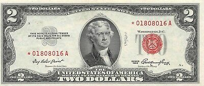 U.S.A $2 Dollars Legal Tender 1953 * Star Replacement Note, Ch. EF XF/ 8016