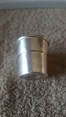 """Rare-Wallace Sterling 5213 Sterling Silver 925 Jigger Shot Glass-23.1G & 2"""" Tall"""