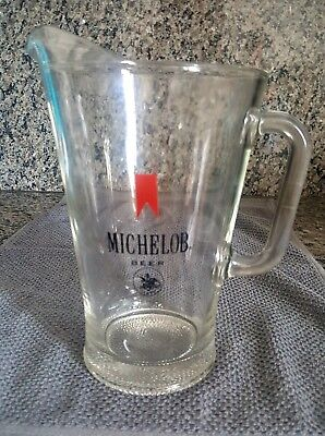 Vintage Michelob Beer Glass Pitcher Old Anheuser-Busch Brewery Old Bar Glass