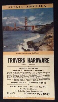 Travers Hardware Blotter - Golden Gate Bridge, California -Portland, Or.- #30802