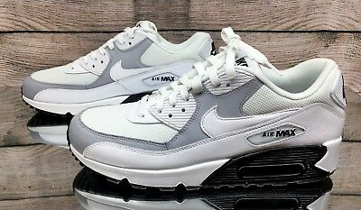 36ee2c2ce Nike Air Max 90 White Grey Black 325213-126 Women's Running Shoes Size 11