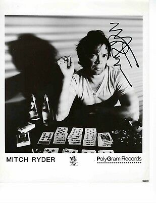 MITCH RYDER Hand Signed 8x10 Autographed Photo With COA - THE DETROIT WHEELS
