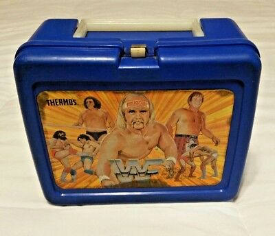 WWF Thermos School Lunch Box! Vintage, extremely rare!! HULK HOGAN and more!