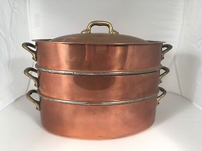 Sur la Table SLT Mauviel Copper 3 Tier Steamer  With Lid Barely Used
