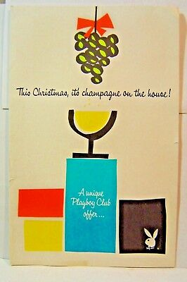 1963 This Christmas, it's Champague on the house Playboy Club Brochure