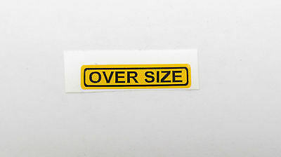 DECAL OVER SIZE Sign suit 1/50 Scale