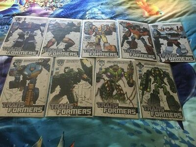 Lot Of 9 Transformers Generations Comic Books Hasbro Exclusive Covers IDW