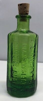 Rare!!! Green A. Lancaster's Indian Vegetable Jaundice Bitters Wheaton Bottle
