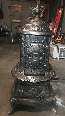 Antique Ornate Bell Summit Parlor Stove Troy-Geneva NY