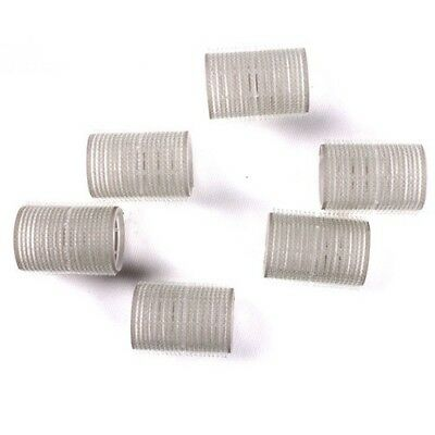 6pcs Reusable Plastic Self-adhesive Hair Rollers Curlers Styling Tools for Women