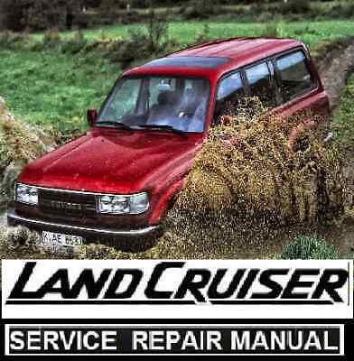 Toyota LANDCRUISER  80 Series 1HD 1HZ 1FZ Workshop Repair Manual CD Land cruiser