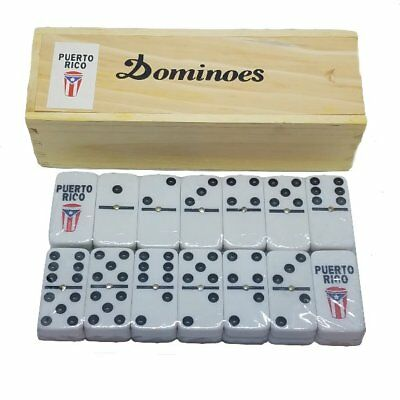Puerto Rico Flag & Conga Double Six Dominos Dominoes ** Free Shipping **