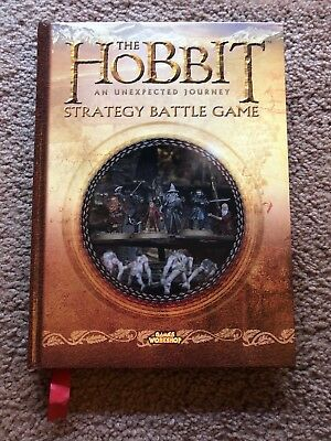 The Hobbit Strategy Battle Game Hardcover Manual - NEAR PERFECT Condition!