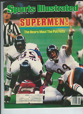 February 3 1986 vintage issue of Sports Illustrated Bears Superbowl cover