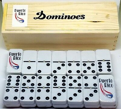 Puerto Rico Rican Flag & Guiro Double Six Dominos Dominoes ** Free Shipping **