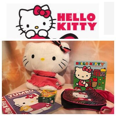 Hello Kitty Plush/Purse/ Book lot Selling Together Sanrio