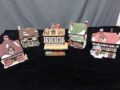 Department 56 dickens village lot Theatre Royal, ,toy shop, coffee house, pub