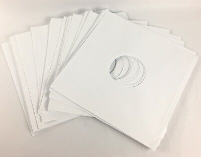 """25 12"""" LP Record Sleeves Inner Paper White Acid-Free Vinyl Liners w/ Center Hole"""