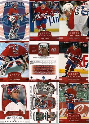 2002-03 ITG In The Game 1st Edition Montreal Canadiens Complete Team Set (16)