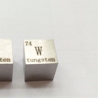 Tungsten Metal 10mm Density Cube 99.95% Pure for Element Collection4#a