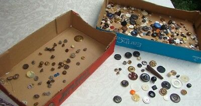 Large Lot Antique Victorian Fancy Metal Steel Cut Buttons Matching Sets! 1.5 lb