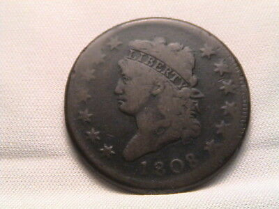 1808  Classic Head Large Cent. S-278, R3