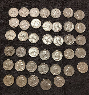 full roll of 1962 and 1963 90% silver Washington Quarters Silver Coins