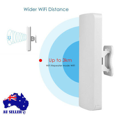 3KM Long Range CPE WiFi Router Wireless Outdoor Access Point Bridge Repeater AU