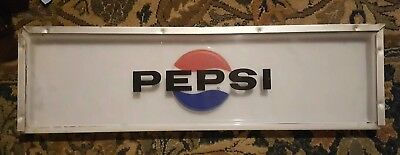 Vintage Pepsi Cola Lexan Sign Face late 1960's-1970's for Pepsi Vending Machines