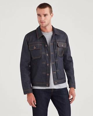 New 7 For All Mankind Mens Trucker Jacket In Deep Wax