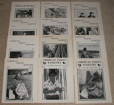 American Indian Basketry Magazine Issues 1 - 12