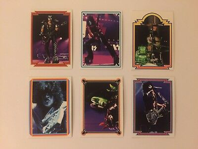 Set of 6 KISS Poster Book official trading cards 2018 - #1, 2, 3, 4, 5, 6