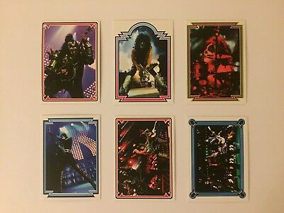 Set of 6 KISS Poster Book official trading cards 2018 - #7, 8, 9, 10, 11, 12