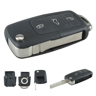 Replacement Flip Key FOB Shell Remote Case Uncut Shell For Volkswagen VW Mk4 MK5