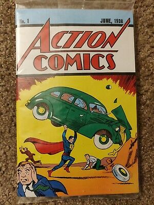 Action Comics # 1 Superman 1st appearance REPRINT by Loot Crate, Sealed with COA