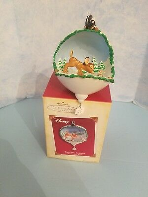 Hallmark Ornament: SKATING LESSON - Walt Disney's Bambi - Dated 2005