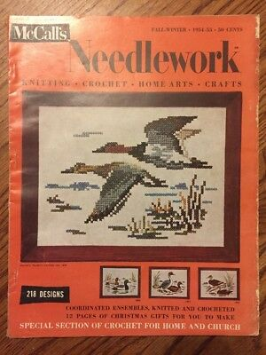 1950s McCall's Needlework Knitting Crochet Home Arts Fall Winter 1954 218 Design