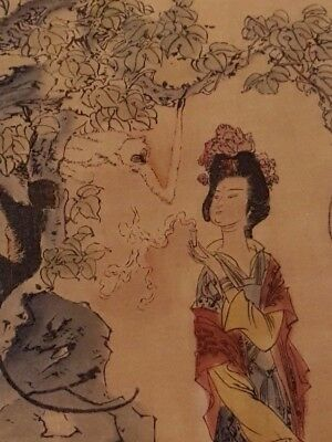 Chinese/Japanese scroll, Antique Painting Collectible Art