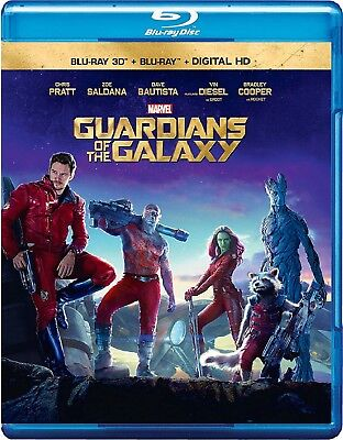 Guardians of the Galaxy (Blu-ray Disc, 2014, 2-Disc Set; 3D)